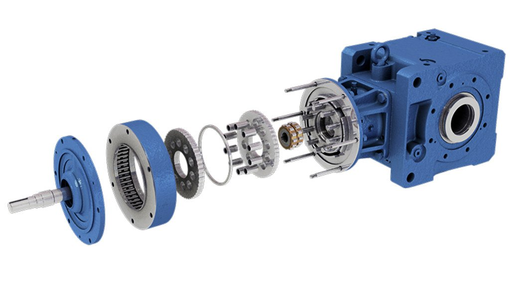 Rendered exploded view of BBB4 reducer