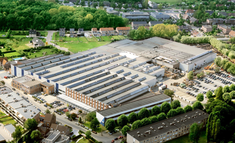 Arial view of Hansen Industrial Edegem Plant